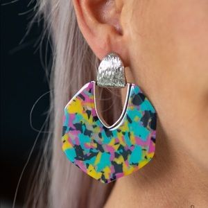 Animal Print | Multi Colored Earrings